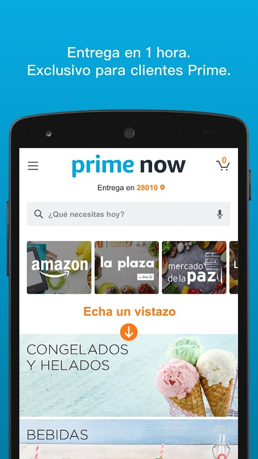 Amazon Prime Now: captura de pantalla