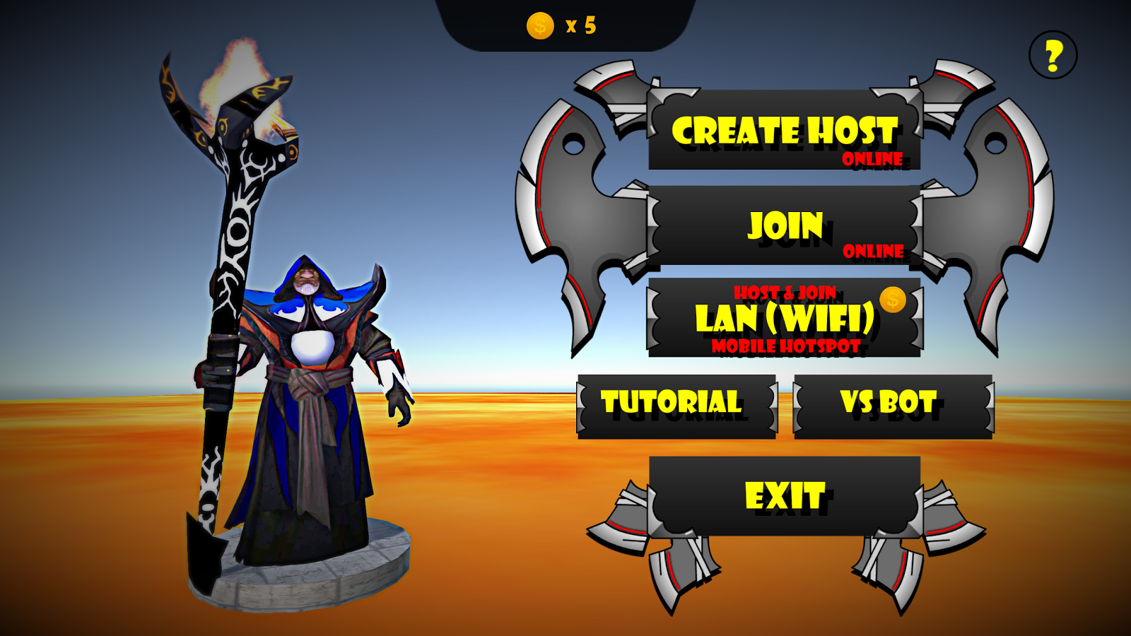 Warlock wars- screenshot