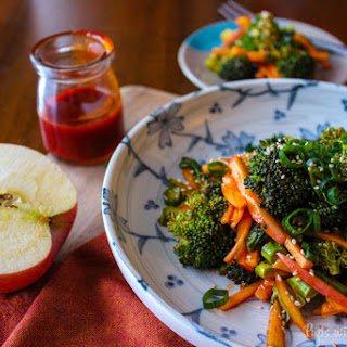 Apple Broccoli Salad with Sweet & Spicy Gochujang Dressing