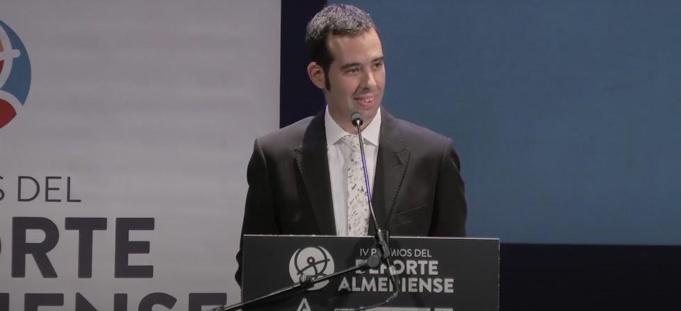 Carlos Tejada, ganador del Premio Deporte Adaptado.