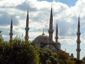 Photo: The Blue Mosque domimates the skyline