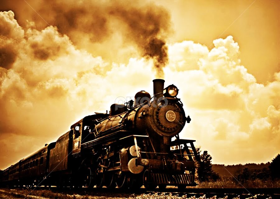 From Times Past by Melanie Ayers Wells-Photography - Transportation Other ( steam engine, sepia, locomotive, train, antique )