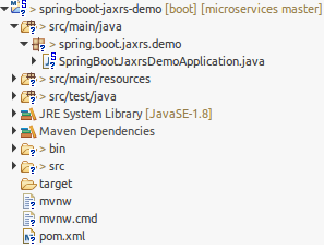 Spring Boot JAX-RS Demo Project Structure