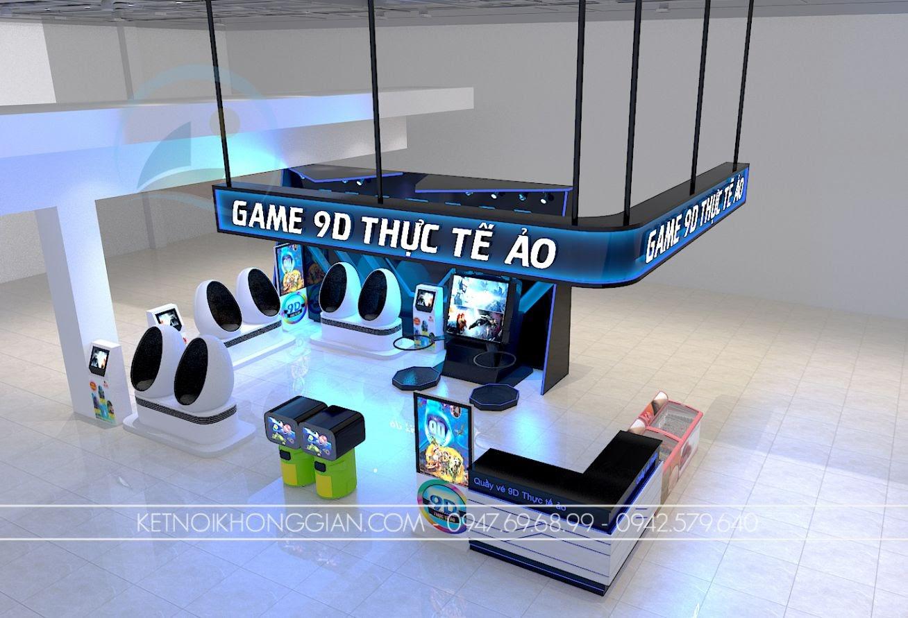 thiết kế gian hàng trò chơi siêu thị