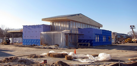 Photo: End of March 2011 - Walls going up, roof is on.