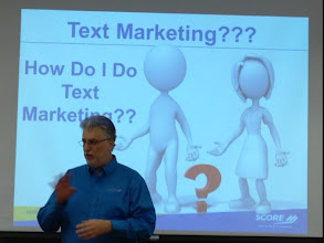 Photo: Steve Fleisch points out the key aspects of marketing to customers' mobile devices