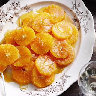 Oranges with Caramel Sauce.