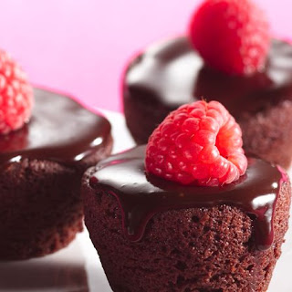 Ganache-Topped Brownie Bites.