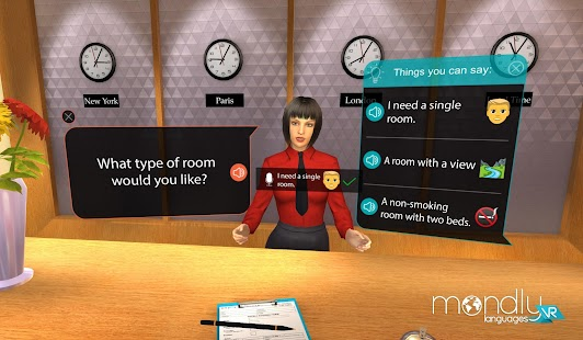 Mondly: Learn Languages in VR Screenshot