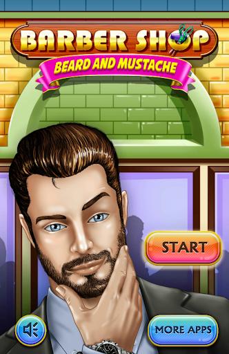 理髪店 ひげと口ひげ 剃ります ゲーム