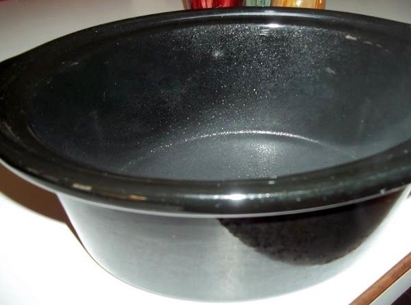 Spray your crock liner with nonstick cooking spray.