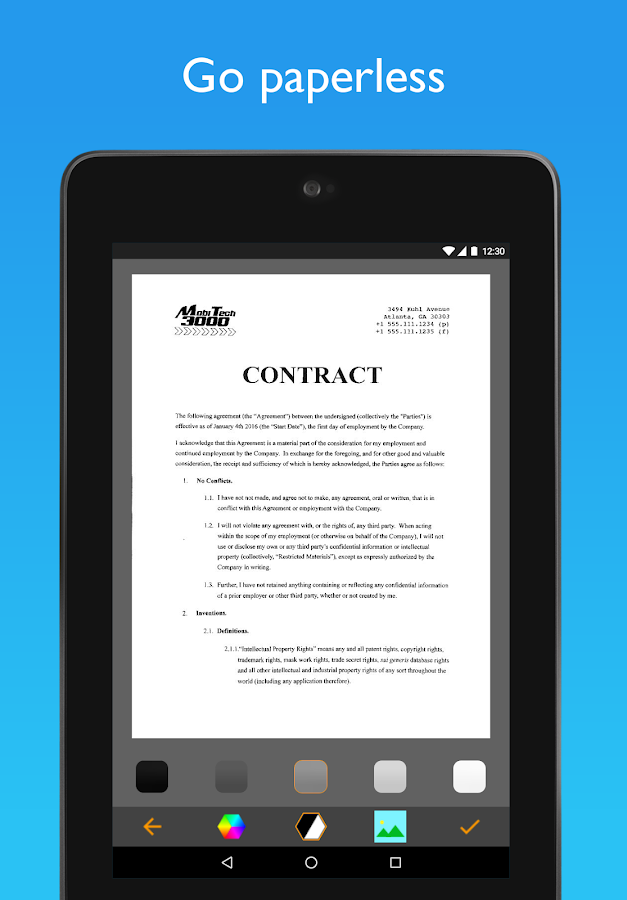 JotNot Pro - PDF Scanner App- screenshot