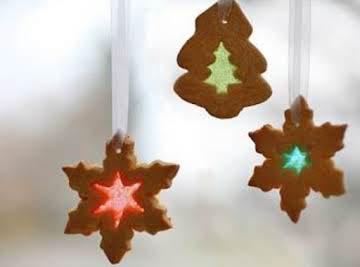 Holiday Stained Glass Molasses Cookies