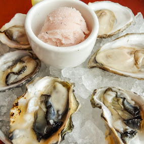 Best Oysters ever! by Dennis Mai - Food & Drink Plated Food ( raw, oysters, shellfish, seafood, shot )