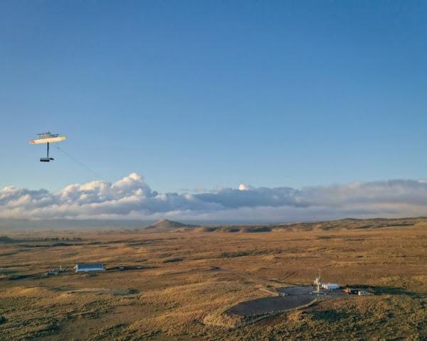 Energy kite flight footage from Hawai'i