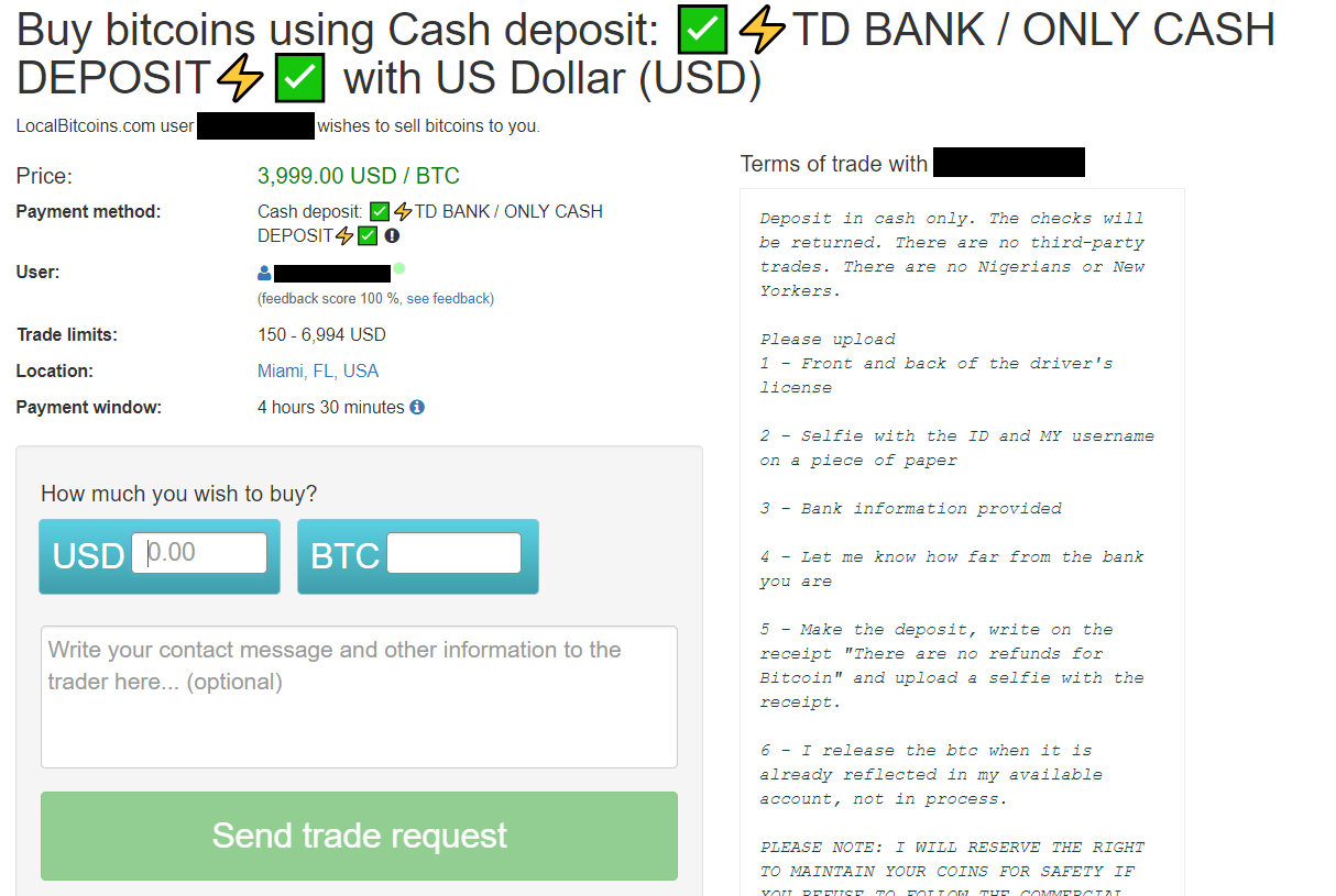 Buy bitcoins using cash deposit screen.