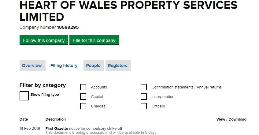 Concern over Heart of Wales Property Services
