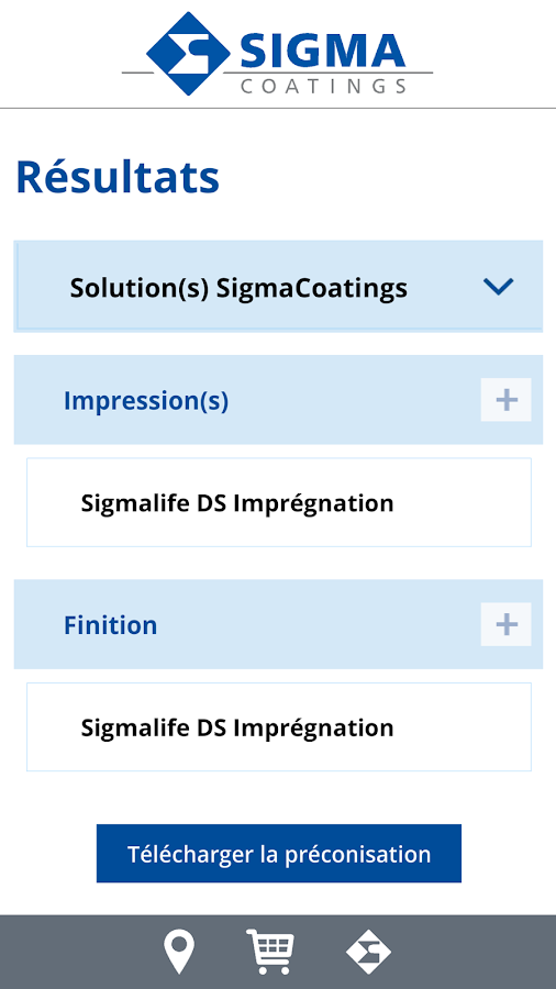 Sigma Coatings- screenshot