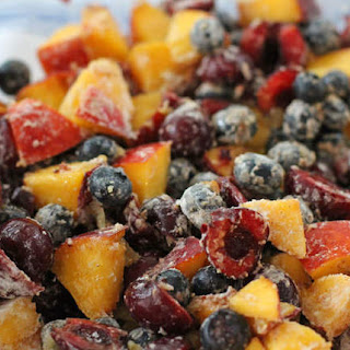 Stone Fruit and Blueberry Crisp