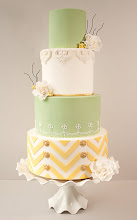 Photo: Lemon & Lime Chevron Wedding Cake by Torta - Couture Cakes (7/28/2012) View cake details here: http://cakesdecor.com/cakes/23182