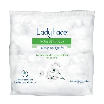 Algodón Motas Lady Face x 50 unidades