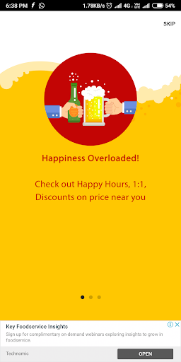 One More Down - Drinks Offer Finder and Events App ss1