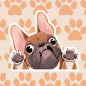 FrenchieMoji Stickers - French Bulldog Emojis icon
