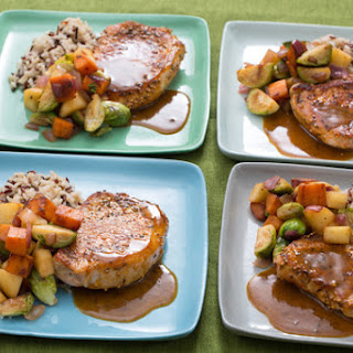 Pork Chops & Fall Vegetable Hash with Wild Rice
