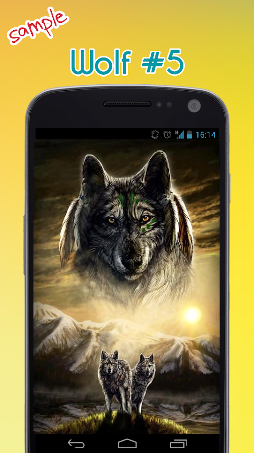 Wolf wallpaper android apps on google play wolf wallpaper screenshot voltagebd Gallery