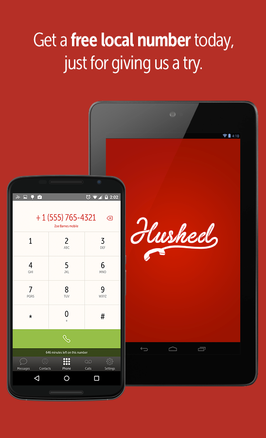 Hushed – Number, Texting, Pics- screenshot