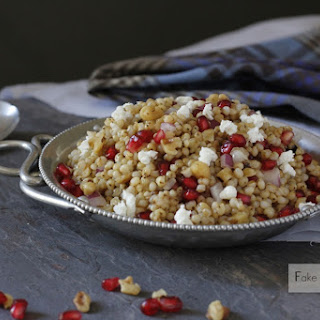 Sorghum Pomegranate Salad with Goat Cheese and Walnuts