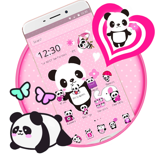 go sms panda theme apk