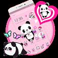 Pink Lovely Panda Theme apk