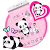 Pink Lovely Panda Theme file APK for Gaming PC/PS3/PS4 Smart TV