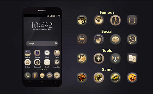 Gold Icons Pro -Cool Icon Pack  screenshots 9