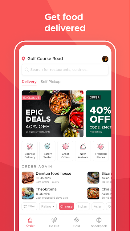 Zomato Restaurant Finder And Food Delivery App Android