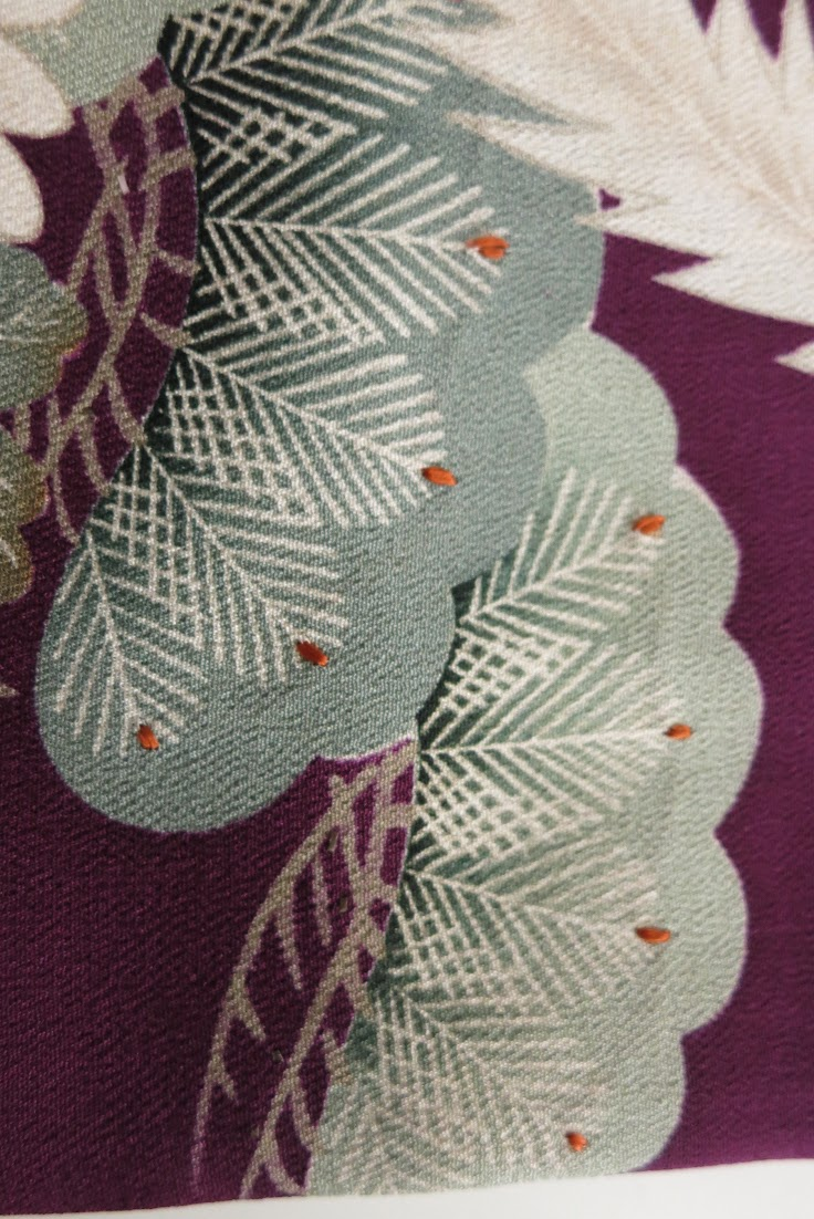 kimono tomesode seide aus japan 1910 seide art deco. Black Bedroom Furniture Sets. Home Design Ideas