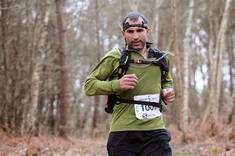 Photo: Course hors stade  22/03/2014  Trail des Trois Chapelles Bains-sur-Oust  43 km  Aziz Benomar  Saint-Malo  3 h 18 mn 40 s