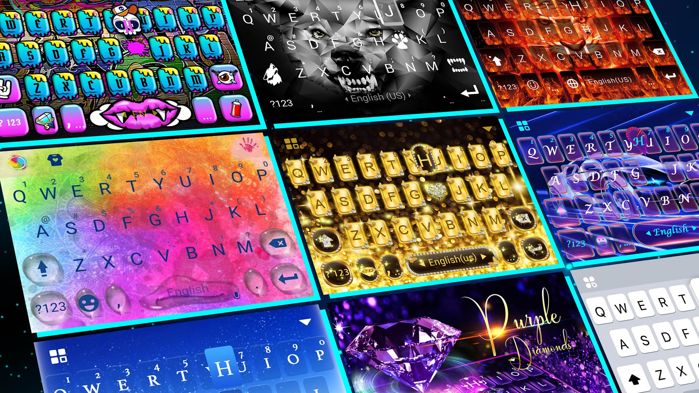 2018 Kika Cool Theme for Android
