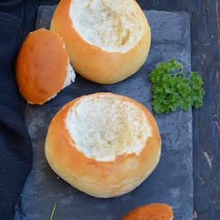 Creamy Tomato Soup served in Edible Bread Bowls