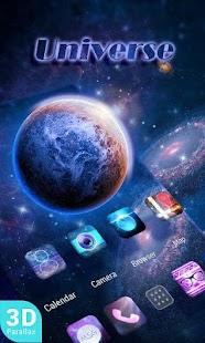 Universe 3D Go Launcher Theme - náhled
