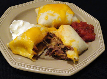 Baked Beef Chimichangas Recipe