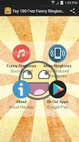 Screenshot of Top 100 Free Funny Ringtones