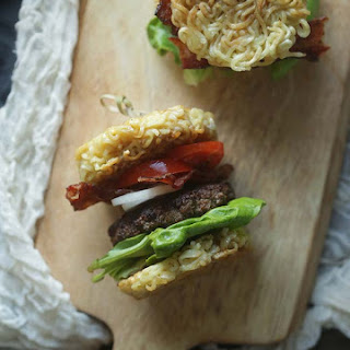 Mini Ramen Burger Sliders
