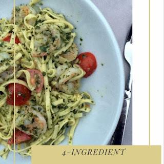 Pesto and Shrimp Linguine.