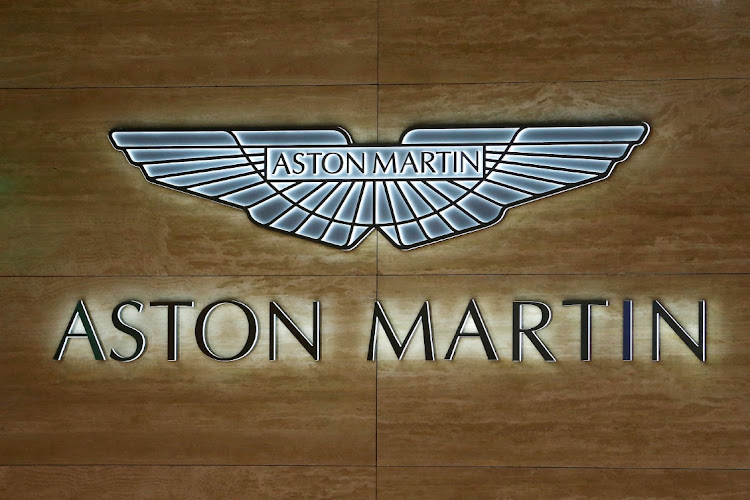 FILE PHOTO: An Aston Martin logo displayed at the 89th Geneva International Motor Show in Geneva, Switzerland, March 5, 2019.