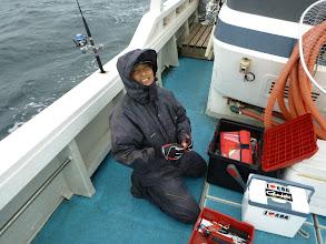Photo: 「魚掛かったけどバレたー! スイベルの所の結び目がすっぽ抜けたー!がははー!」 ・・・ありえん!