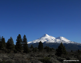 Photo: The trip to Burney, CA, from Oregon takes one past the mighty Mt. Shasta (Shastina to the right).