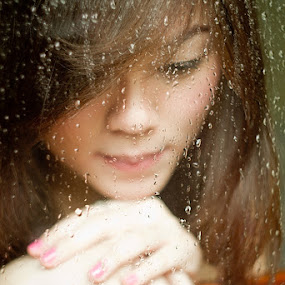 Rainy Days by Agung A - People Portraits of Women ( water, girl, rainy, droplet, woman, mood )