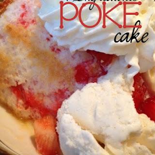 Strawberry Angel Food Poke Cake Recipe